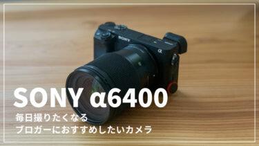 【レビュー】カメラ初心者のブロガーがα6400を選んだ理由