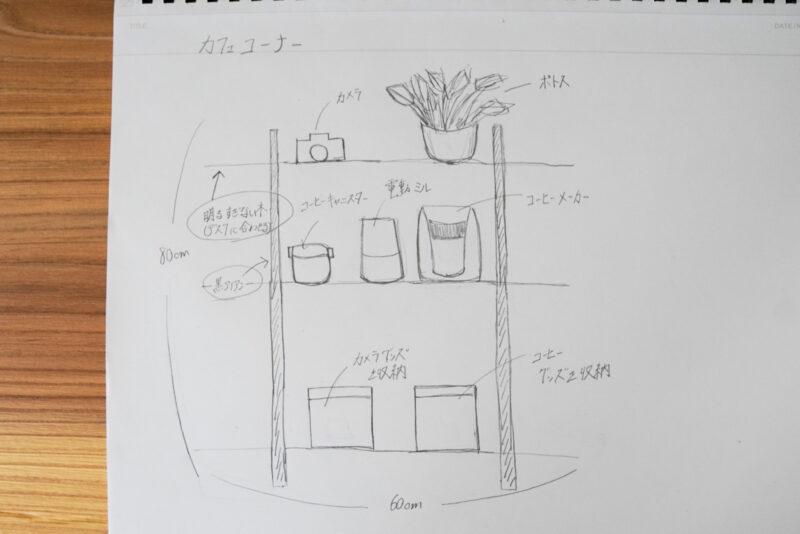 理想のカフェコーナー