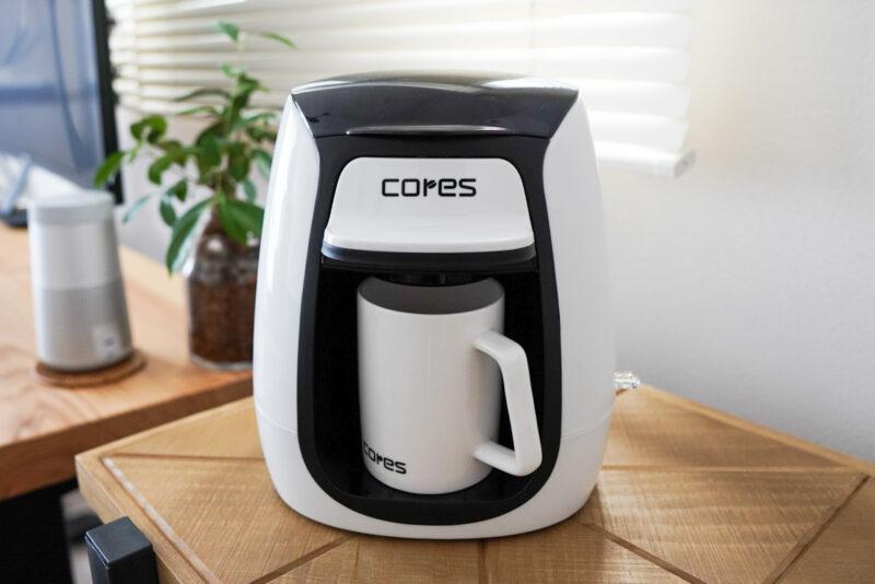 コレスの1杯用コーヒーメーカーの本体にホルダーをセット