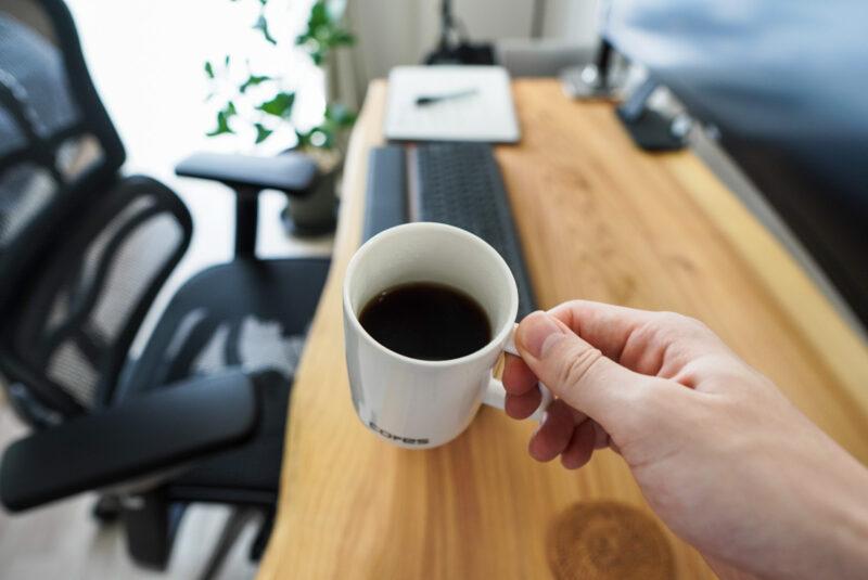 コレスの1杯用コーヒーメーカーで作ったコーヒー